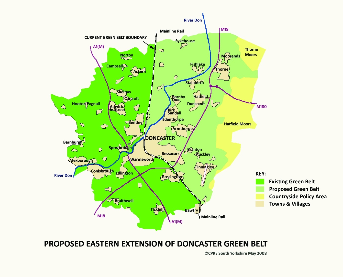 CPRE SY 2008 - Doncaster Green Belt Map copy2